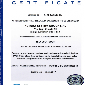 CERTIFICATE ISO 9001 Ing